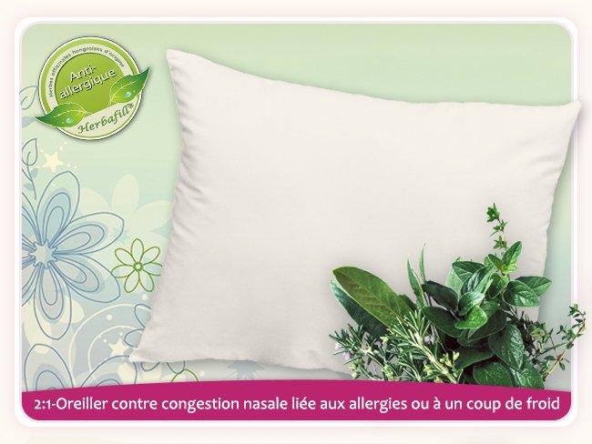 2 1 oreiller contre congestion nasale li e aux allergies ou un coup de froid. Black Bedroom Furniture Sets. Home Design Ideas